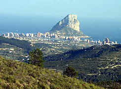 Penyal d'Ifach, near Calpe, 1.100 feet high