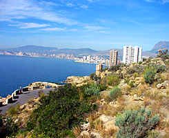 view on Benidorm from the 'Sierra Helada'